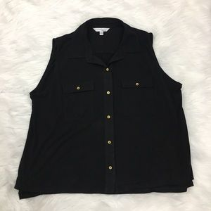 Ellen Tracy Plus Size Sleeveless Shirt